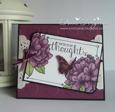 https://www.facebook.com/pages/Handmade-With-Love-In-NIreland/145237172246665 Stampin Up Best Thoughts Stamp Set