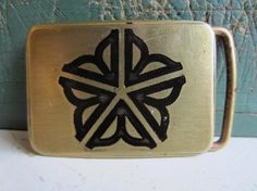 Rochester Flower Belt Buckle Solid Brass by CopperIronandCarbon, $19.99