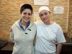 Gisella Spinella con Filippa Montalbano della Pizzeria Al Vecchio Maniero di Misilmeri (PA)