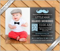 Baby Dedication Invitation Templates New Baby Boy Baptism Christening Dedication Invitation Baby Dedication Invitation, Baptism Invitation For Boys, Christening Invitations Boy, Christening Cake Boy, Christening Decorations, Baby Boy Baptism, Boy Birthday Invitations, Baby Boy Birthday, Diy Birthday