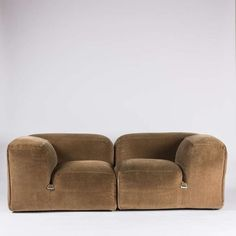 Mario Bellini; 'Le Mura' Sectional Sofa for Cassina, 1972.: Framed Chairs, Designer Più, Futuristic Design, Bellini Milano, Lounge Chairs, Bellini 1935, Furniture, Sectional Sofas