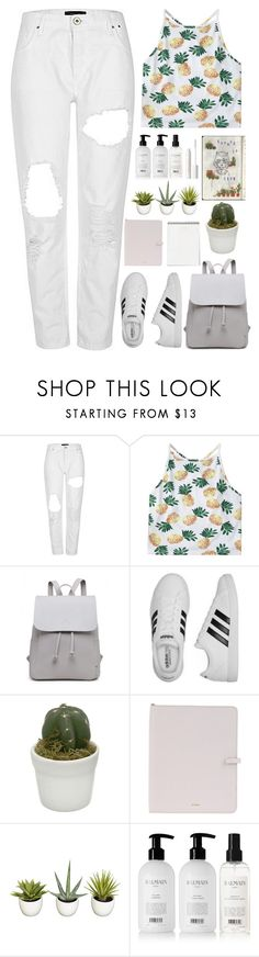 """""""Dreaming 'bout being a big star"""" by annaclaraalvez ❤ liked on Polyvore featuring adidas, Jil Sander, Improvements, Balmain and tarte"""