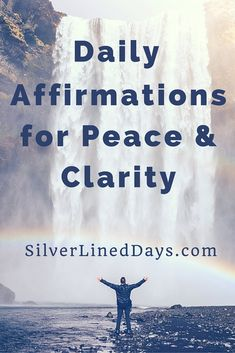 Saying these affirmations out loud help not only build confidence, but also allows for a sense of peace to enter your life as you prepare to take on the day ahead. Read on...  positive quotes | inspirational quotes | law of attraction | motivational quotes | motivation | positive thinking | affirmations | peace | clarity | happiness | happy quotes