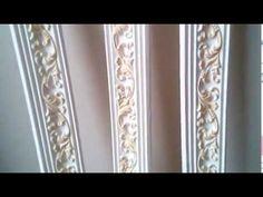 красивый карниз из пенопласта - YouTube
