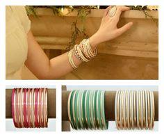 Stacked Bangle Bracelets $7.95 #CentsofStyle #BangleDangle