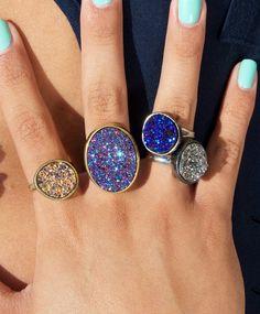 Konkaver Quarz-Ring in blau, Gold, Silber oder lila von LovMely auf Etsy https://www.etsy.com/de/listing/152720190/konkaver-quarz-ring-in-blau-gold-silber