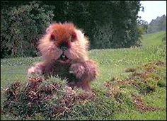 the gopher from Caddy Shack, not cause i didnt like rodents, but cause it made me believe that hand puppets could come alive