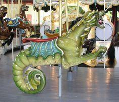 sea dragon, Greenfield Village carousel