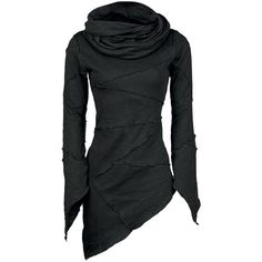 """The figure-hugging """"Templar Hood"""" of Queen Of Darkness is something special! It has an asymmetrical cut, the right side is a bit longer than the left side. The…"""