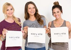 Sneak Peak at our 2015 line and bags for Every Ella!   Every Ella is a lifestyle brand for women aiming to empower and unite through fashion! For each item purchased we donate $3 to charities dedicated to women and girls!   http://www.everyella.com