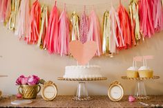 Dessert bar | Kate Spade NY {Make it at home: Tissue tassels available at Twosided}