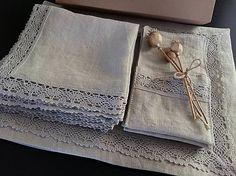 Linen Gift Set by shabby.romantic / Darčeková sada Pure Beauty