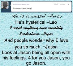 Hahaha! Awww Jason and Piper