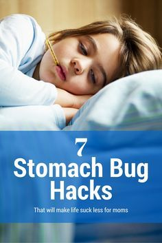 7 Parenting Tips for moms taking care of kids with the stomach flu. These smart solutions help reduce clean up time for moms caring for their little kids with stomach bugs.