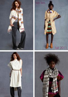 • fashion / lem lem -  the fall 2011 collection from lem lem hits the right notes this season. It's light weight cotton skirts, ponchos and accessories make an easy transition from warm days to cool california nights.  Check out the whole collection here.