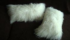 Tibetan lamb Fur Pillow Cover Mongolinan lamb fur by TibetCode, $69.00