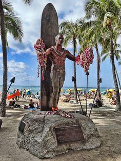 Waikiki Beach Hawaii. Duke of Waikiki by Atelier Teee, via Flickr.