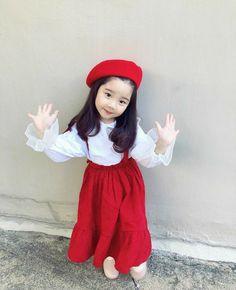 Cute Asian Babies, Korean Babies, Asian Kids, Cute Babies, Kids Outfits Girls, Cute Outfits For Kids, Cute Kids, Kids Dress Wear, Baby Dress