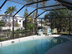 VRBO.com #357433 - Affordable Heated Screened Pool/Canal W/Dock/Beach1 Block
