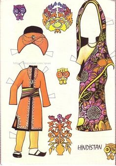 Paper Doll (World Traditional Costume): Naver blog