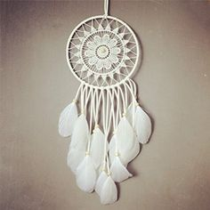 This one is much more on the authentic side of dream catcher that you can make. It could slightly be challenging with the crochet part but if you have the talent, it would be a great project.