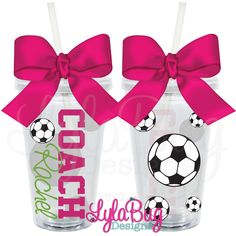 Girl's Soccer Coach Tumbler: LylaBug Designs Coach Appreciation Gift Coach Holiday Gift