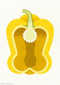 Ryo Takemasa Pimiento - love these stylised vegetables