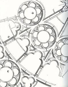 """The rose window design"" Sacred Architecture, Cathedral Architecture, Architecture Sketches, Historical Architecture, Architecture Details, Gothic Architecture Drawing, Renaissance Architecture, Classical Architecture, Amazing Architecture"