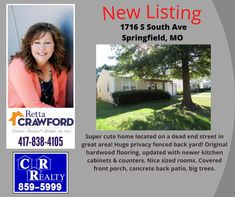 Missouri Real Estate, Covered Front Porches, Big Tree, Back Patio, Backyard, Covered Porches, Patio, Backyards