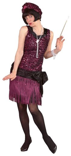 Deluxe Sequin Flapper Costume | Theatrical Flapper Dress
