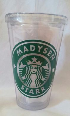 Starbucks tumbler cup I made for my cousin   Www.facebook.com/thequeenbeechic