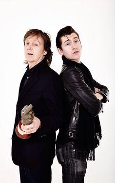 PAUL MCCARTNEY AND ALEX TURNER YES MY HEROES