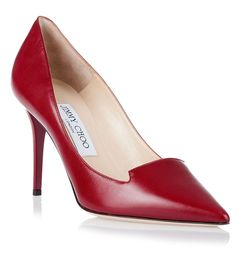Alia red leather pump from Savannahs