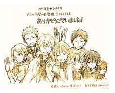 Akagami no Shirayukihime - Zen and Shirayuki #manga #anime Obi-Mitsuhide-Kiki-Ryu
