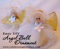 Angel Bells DIY Christmas Ornament Craft | Celebrating Holidays
