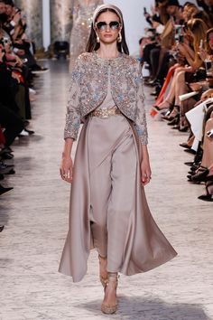 Glimmering dresses harked back to traditional romance at the Elie Saab couture show (BridesMagazine.co.uk)