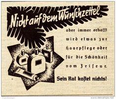Original-Werbung / Anzeige 1938 - DER FRISEUR AN WEIHNACHTEN - ca. 65 x 60 mm