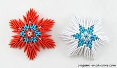 Modular Origami Christmas Stars by origamimodulowe on DeviantArt