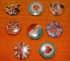 VINTAGE MOD & MADNESS button badges from the 80s by andyhousham