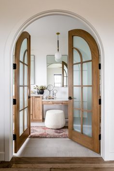House Tour: Inspired Design by House of Jade - Design Chic Modern French Country, French Country House, Modern French Decor, Arched Doors, Home Living, Living Room, Bathroom Interior, Interior Doors, Bathroom Ideas
