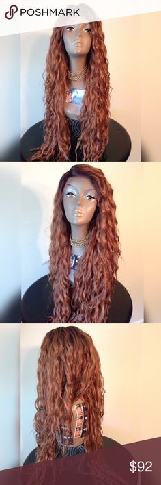 "👑WATER WAVE SWISS LACE FRONT WIG ""BLEND"" QUEEN B INSPIRED APPROX. 26-28 INCHES LONG SWISS LACE TAKES HEAT TO 400° NO TANGLING NO MATTING BRAND NEW   🎁I DO NOT TRADE AT ALL #NEVER 🎁NOT ACCEPTING OFFERS 🎁NO HOLDS 🎁PRICE IS FIRM 👑ACTUAL PHOTOS OF MY PRODUCT & MY WORK NO SCREENSHOTS NO STOCK PHOTOS  📣I DO NOT TRADE📣  💌SHIPPING POLICY :SAME DAY SHIPPING IF PURCHASED BEFORE 12PM DELIVERY TIME :2-3 BUSINESS DAYS Accessories Hair Accessories"