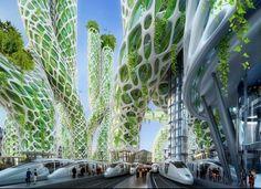 Station van de toekomst 2050.