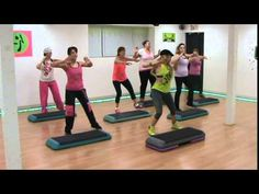 """Here's an """"oldie"""" but goodie for Zumba Step--original choreo/Denyse Barrett-Flynn & the Hips & Salsa Fitness Z-Crew I do not own the rights to this song. Step Workout, Healthy Exercise, Zumba Fitness, Sweat It Out, What Is Life About, Primary School, Malta, Hiit, At Home Workouts"""