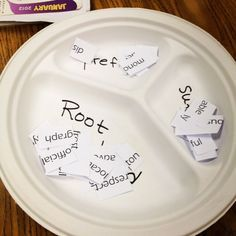 This activity focuses on taking big words and dividing them up into root words, prefixes and suffixes. If students have prior knowledge on all three or just with root words and need more practice identifying them, this activity provides just that. Teaching Language Arts, Teaching Writing, Speech And Language, Teaching Ideas, Teaching Spanish, Teaching English, Word Study, Word Work, Daily 5