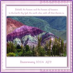 Check out the deal on Deuteronomy 10:14   Behold, the heaven and the heaven of heavens is the Lord's thy God, the earth al at Bible Alive