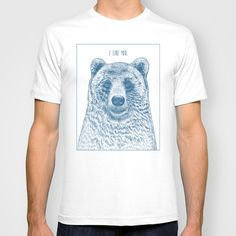 BUY: http://society6.com/product/bear-ivory_t-shirt?curator=4thecrime