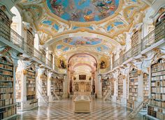 I'm a nerd and love libraries. Plus the one in Austria looks like the library in Beauty and the Beast! They're AMAZINGGGGG