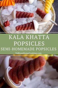 A delicious popsicle or ice pops with kala khatta syrup. Here are my sweet and sour semi-homemade kala khatta popsicles that are oh-so-simple and oh-so-delicious. #easypopsicles #homemadepopsicles #kalakhattapopsicles Amazing Vegetarian Recipes, Delicious Vegan Recipes, Healthy Recipes, Homemade Popsicles, Fruit Popsicles, Recipe Maker, Sour Taste, Semi Homemade, Popsicle Recipes