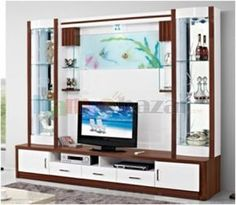 """Everything about """"Tv Unit"""" Modern Tv Room, Modern Tv Wall Units, Living Room Tv Unit Designs, Interior Design Living Room, Tv Showcase Design, Lcd Wall Design, Tv Unit Furniture, Tv Cabinet Design, Wall Shelving"""