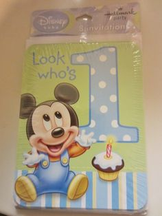 8 Disney Baby Mickey 1st Birthday Invites